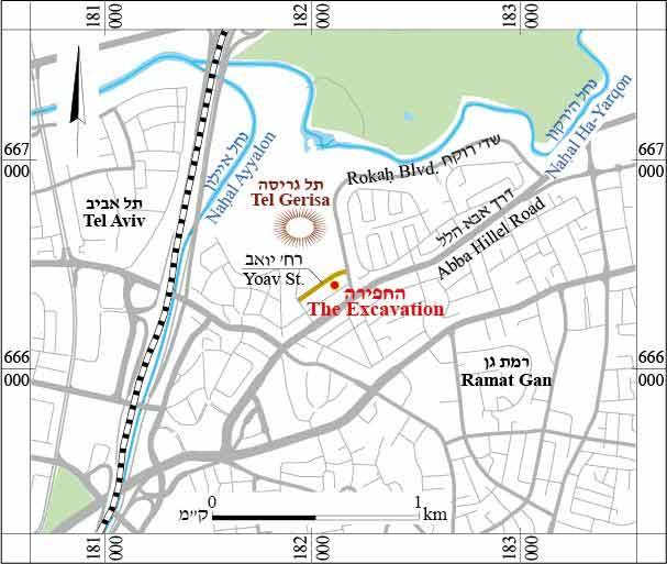 Volume Year Tel Gerisa A - Ramat gan map
