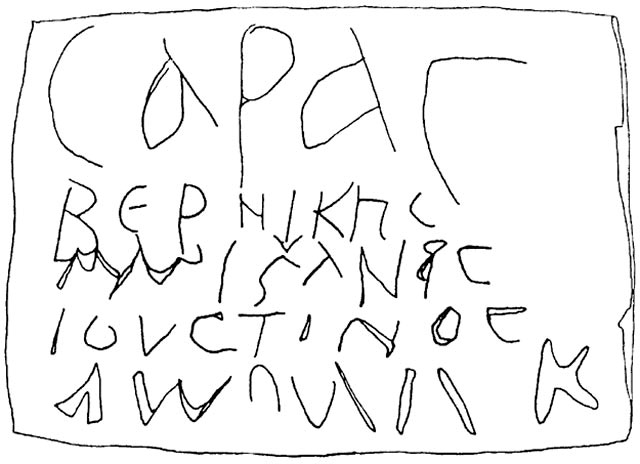 6. The inscription above Loculus 508 (drawing).