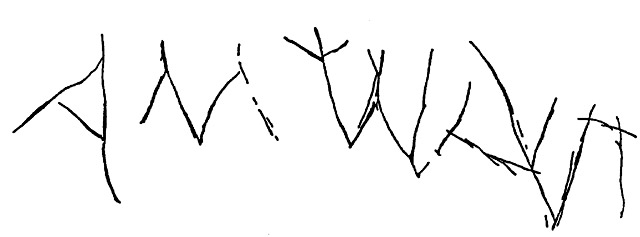 8. The inscription above Loculus 512 (drawing).