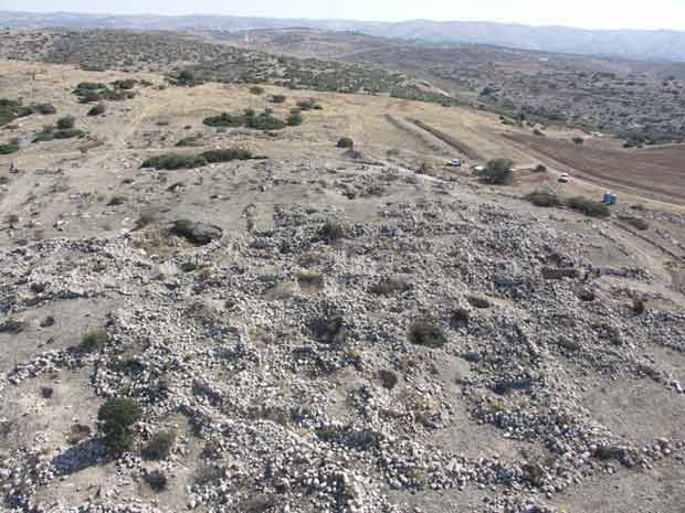 1. Aerial photograph of the site, looking east.