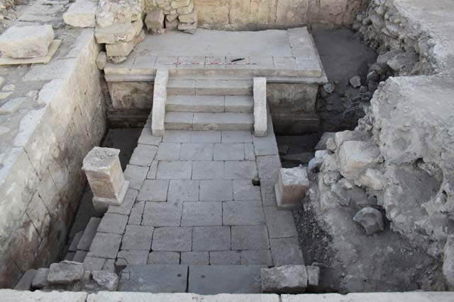 6. Space 5, platform in front of the Early Shrine, looking west.