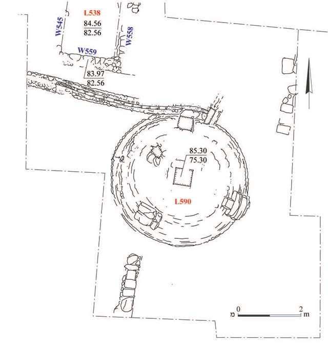 8. The large cistern from the Early Islamic period, plan.