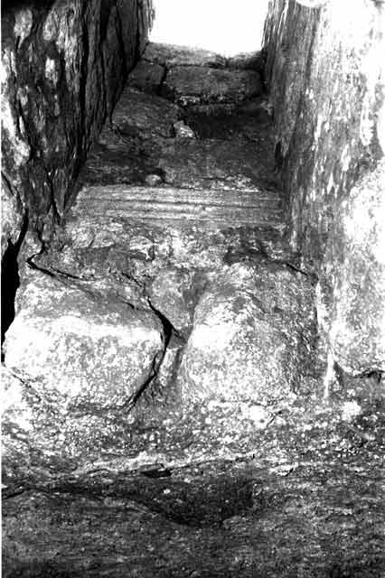 4. The western shaft, view from inside the cistern.