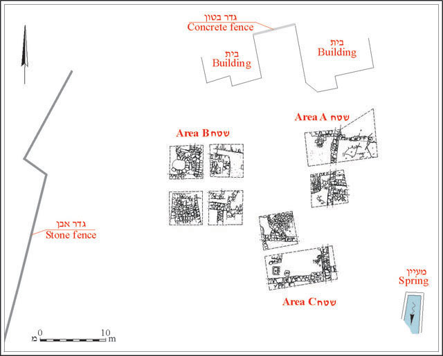 1. The excavation areas, plan.
