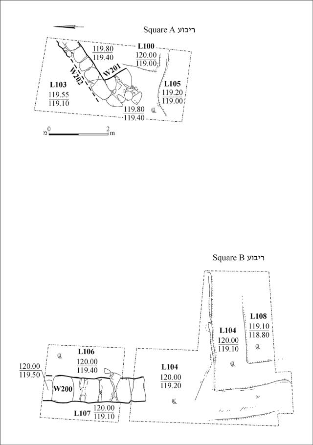1. Plan of Squares A and B.