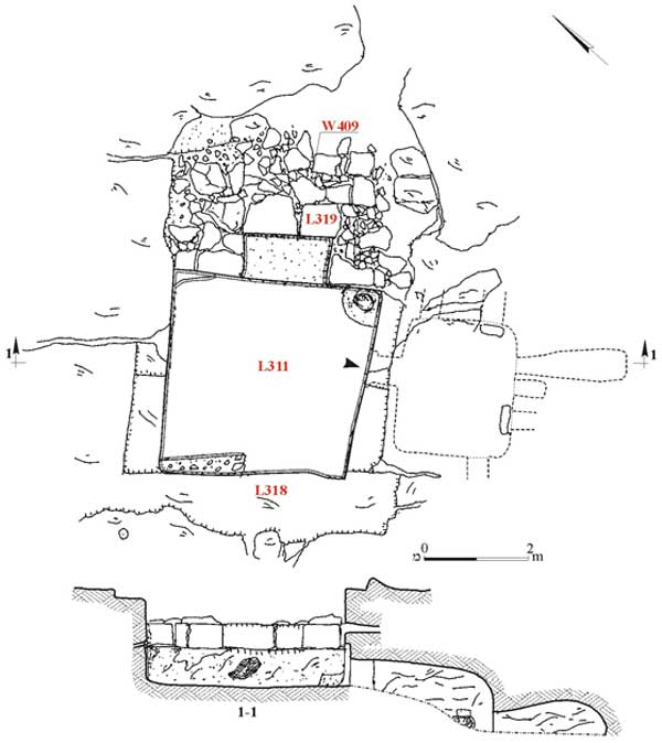 5. Burial Cave 131, plan and section.
