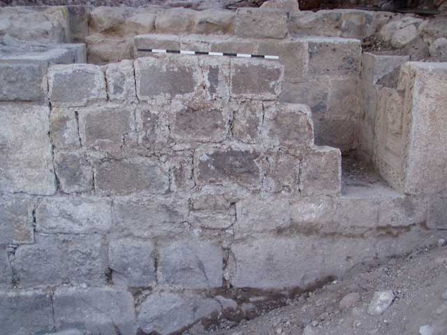 7. Blockage walls across the Crusader gateway; looking south.