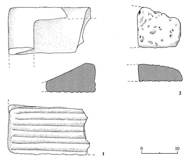 4. Stone artifacts.