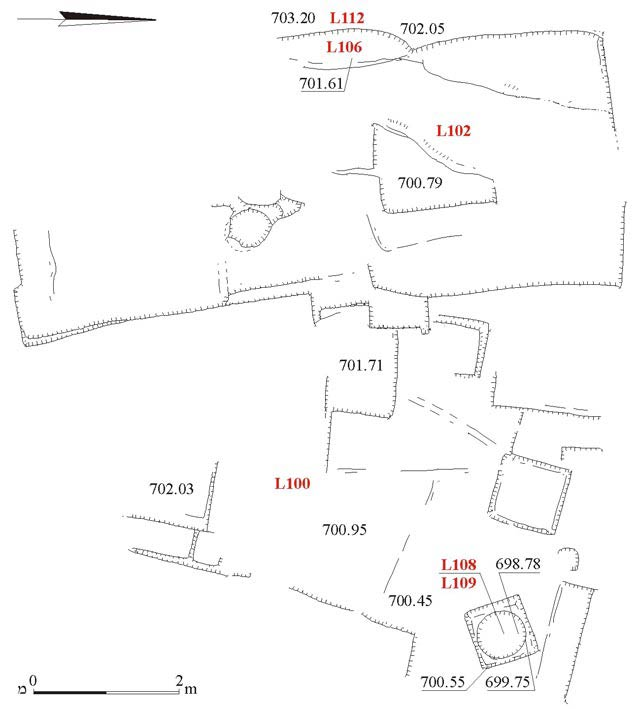 10. Area A, Quarry and Cistern 108, plan.