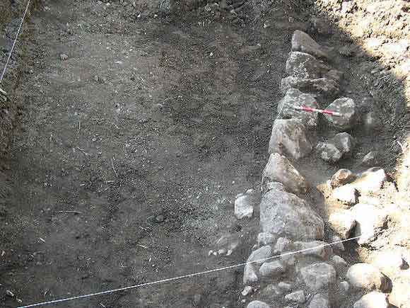 1. The excavation, looking west.