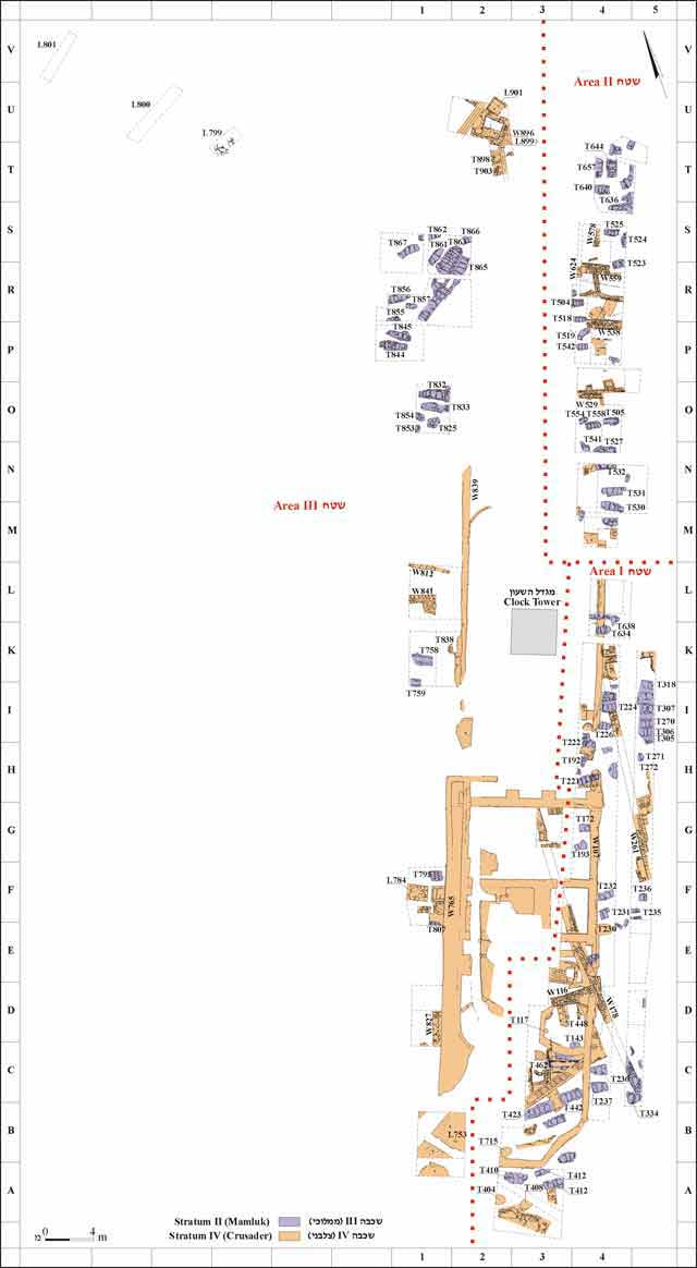 1. General plan of the excavated areas with the Mamluk burials