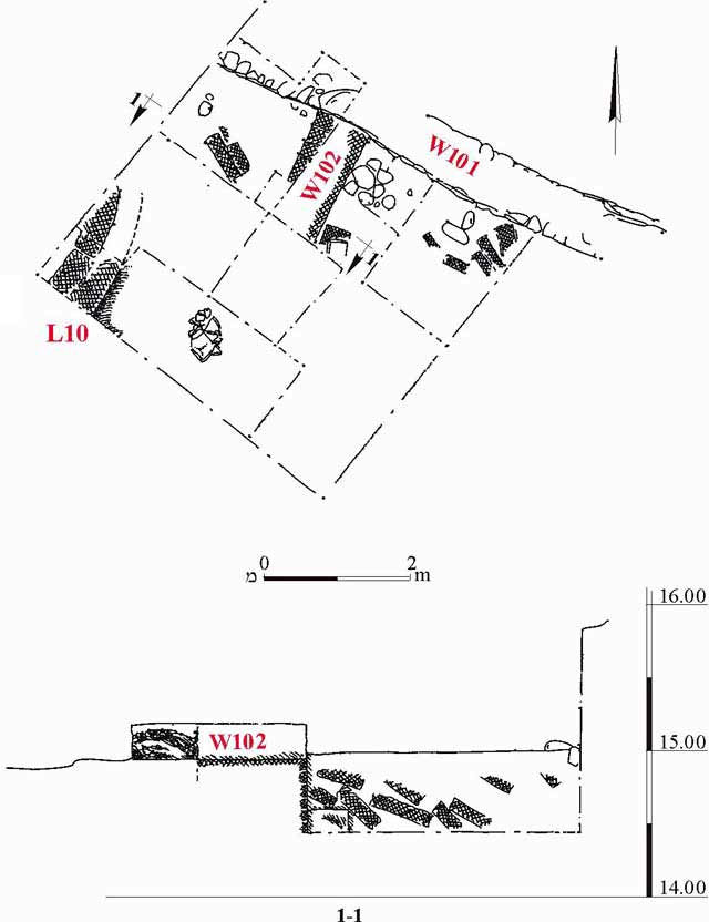 1. Plan and section.