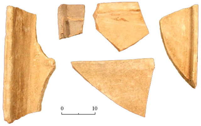 3. Fragments of ceramic coffins.