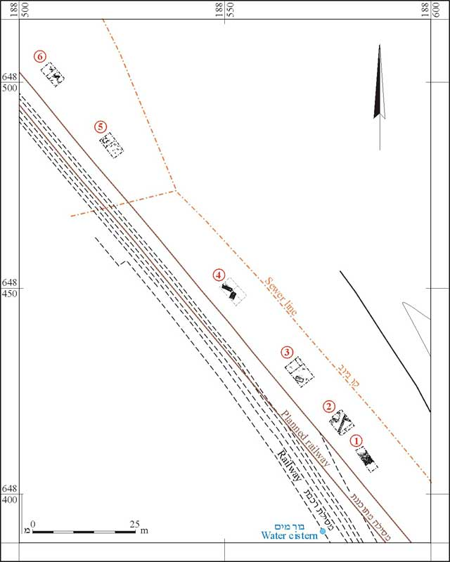 2. The excavation squares, plan.
