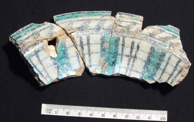 3. Fragment of a frit-ware plate.
