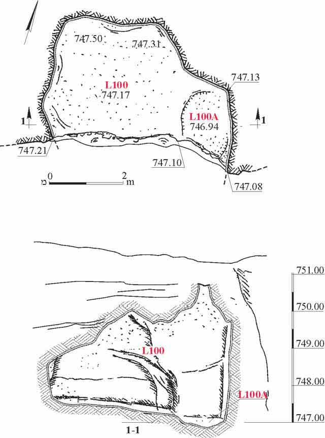 2. Eastern cistern, plan and section.