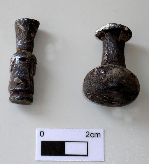 10. Small glass bottles from the Abbasid period.