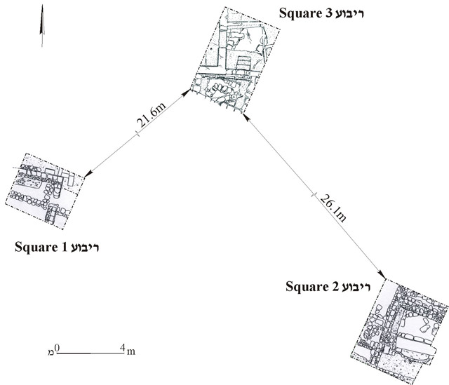 4. General plan of the excavation areas.
