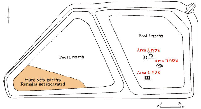 1. Map of excavation areas.