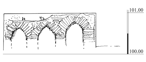 19. Cross-section of the bathhouse colonnettes.