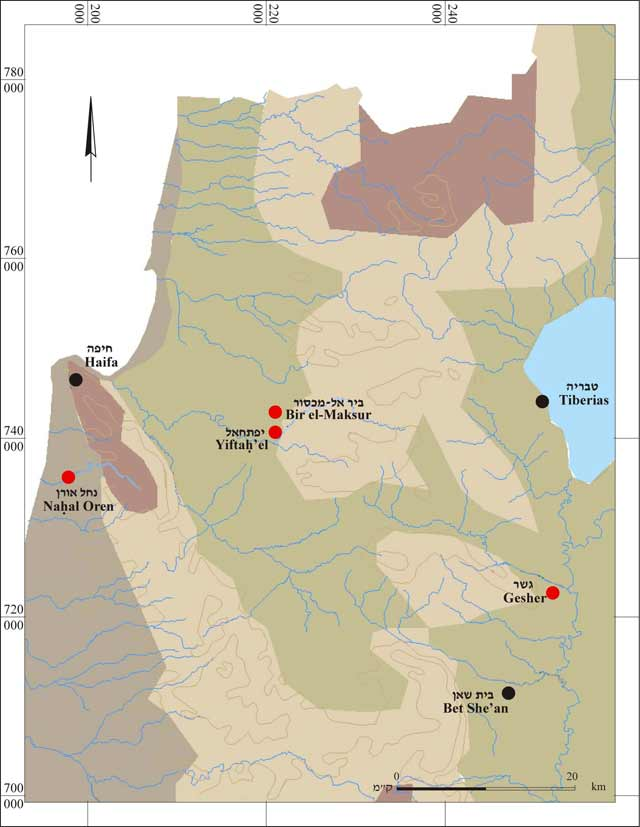 1. Location map of Bir-el Maksur and other PPNA sites.