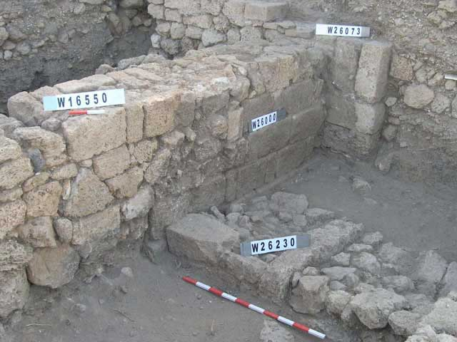 3. Area D1, the interface between the Hellenistic public building and the continuation of the 'ashlar wall' from Area D2.