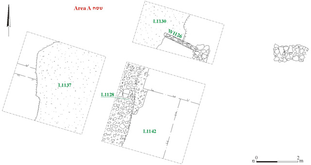 3. Area A, plan.
