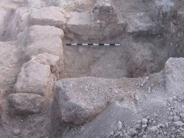 4. The corner formed by Walls 108 and 109, looking north.