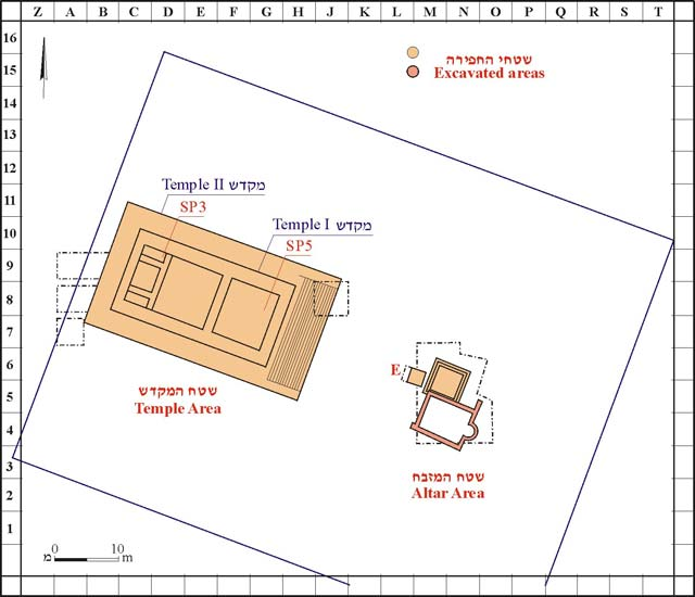 1. Plan of 2007excavated areas.