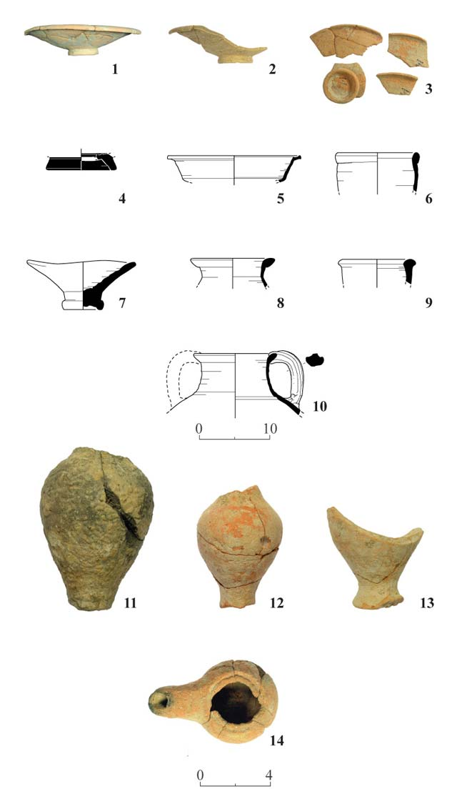5. Pottery from the Hellenistic period.