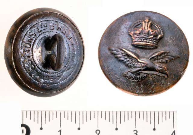 52. A Royal Air Force coat button.
